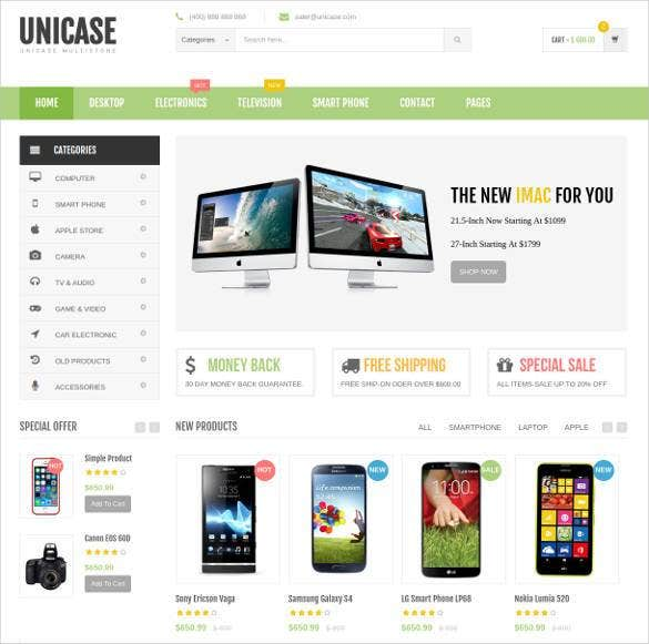 ecommerce-php-html-website-template