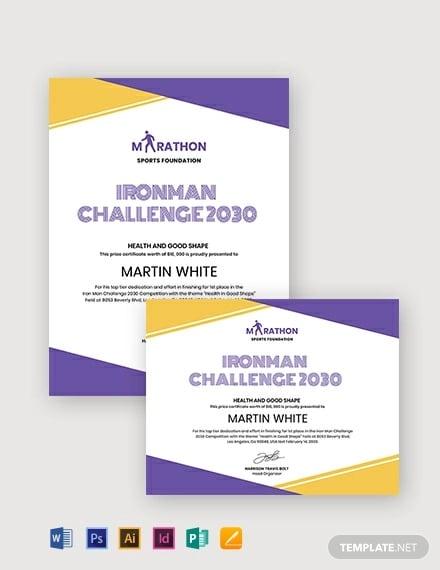 simple prize certificate