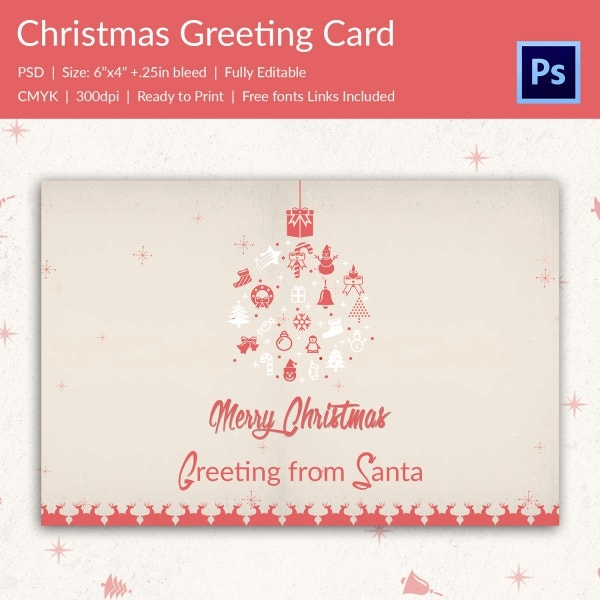 Christmas Greeting Card Templates  Free Psd Eps Ai
