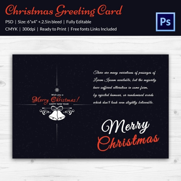 merry christmas greeting card invitation