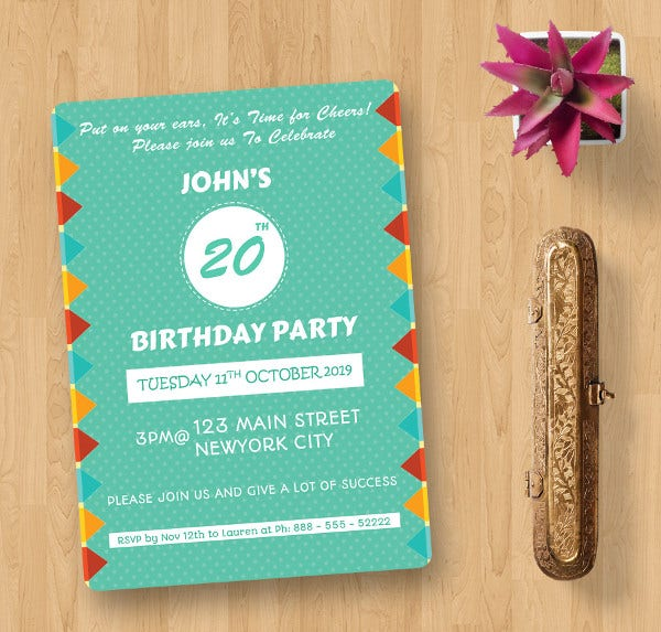 Word Birthday Cards 511 Free Word Documents Download – Invite Card