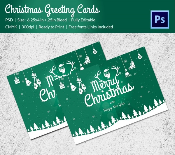 beautiful christmas greeting card template1