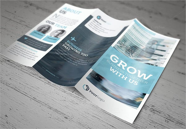 trifold insurance brochure template