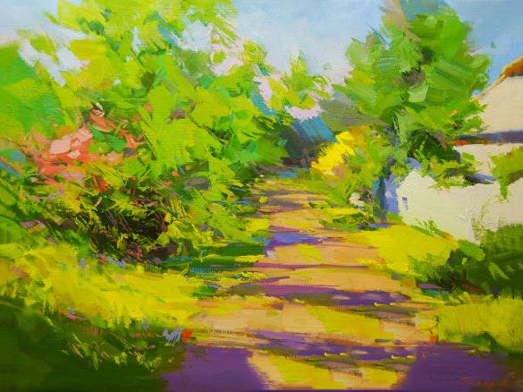 summer landscape oil painting