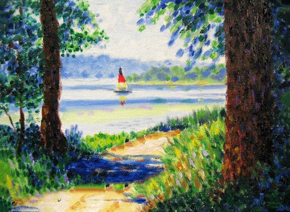 summer oil painting download