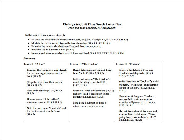 Common Core Lesson Plan Template Free Word Excel PDF Format - Common core math lesson plan template