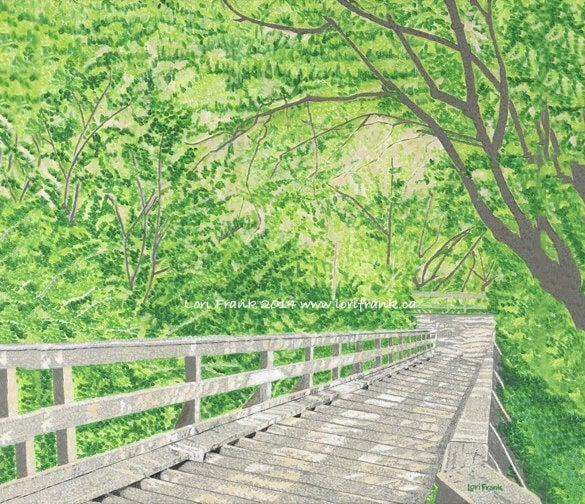 edmonton river valley summer painting