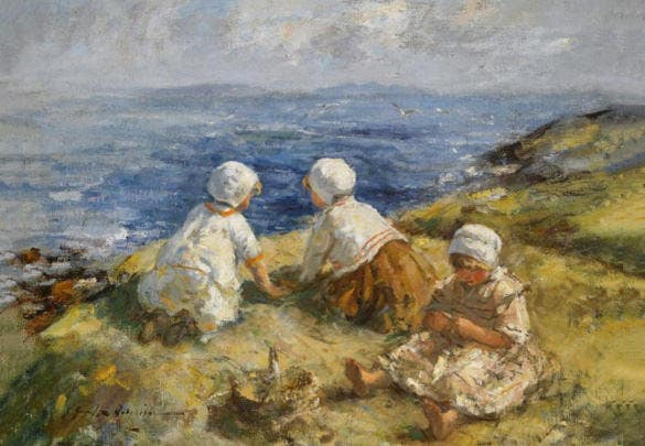 summer on the clifftops painting