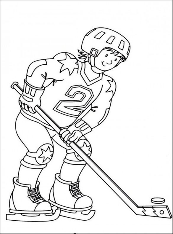 21+ Hockey Coloring pages – Free Word, PDF, JPEG, PNG Format ...