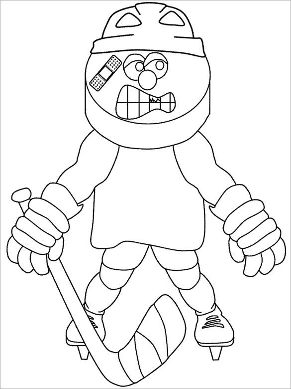 hockey buddy coloring page