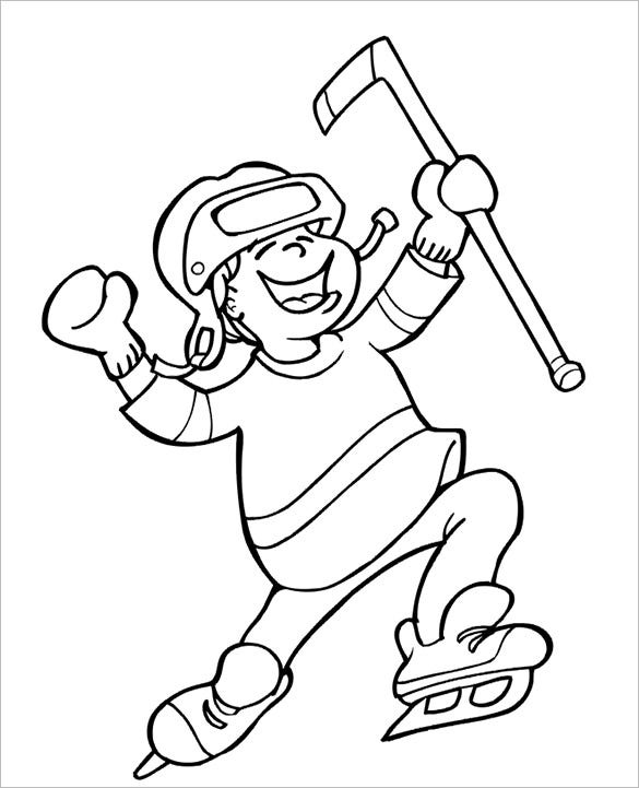 celebrating hockey coloring page