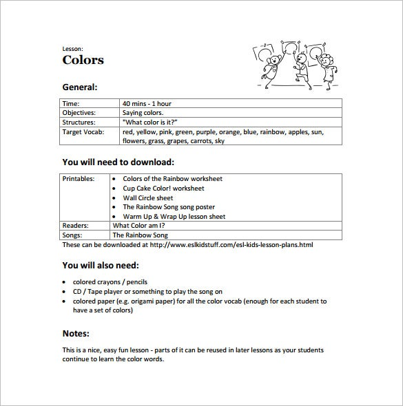 Toddler Lesson Plan Template – 10+ Free Sample, Example, Format