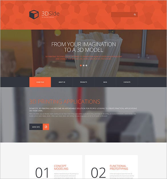 3d side html5 theme