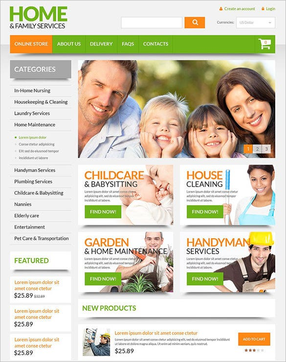 home family decor virtuemart theme