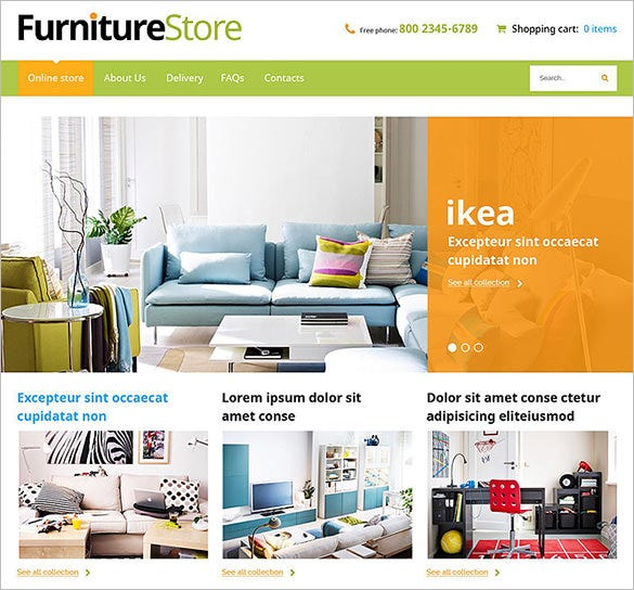 furniture store home decor virtuemart template