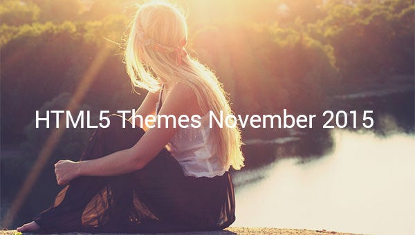 html5 themes and templates released in november 2015.