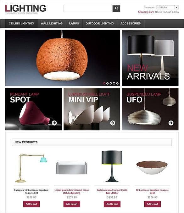 lighting home decor virtuemart theme