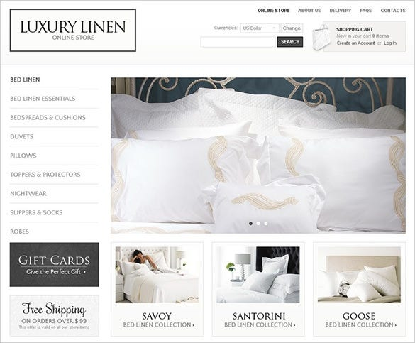 online luxury home decor template
