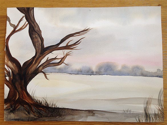 aquarel winter painting for you