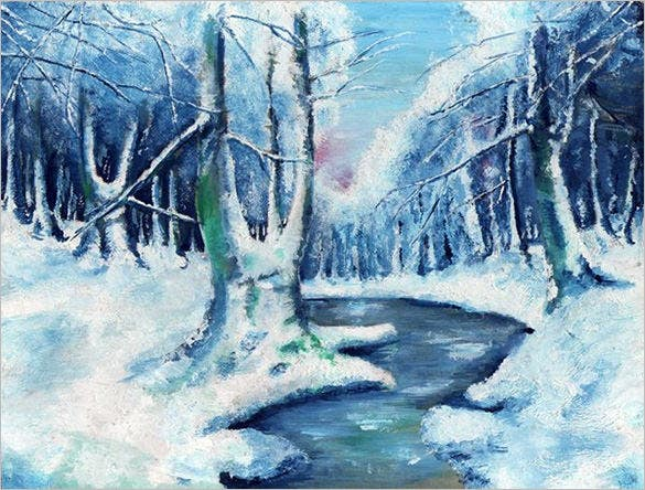 elegant painting of winter download