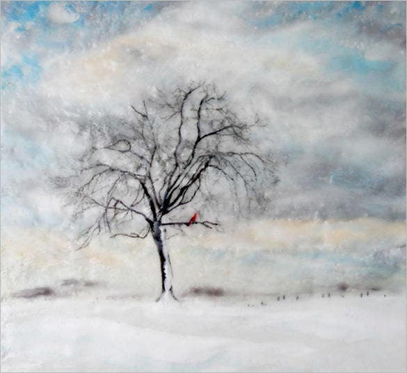 winter morning painting download