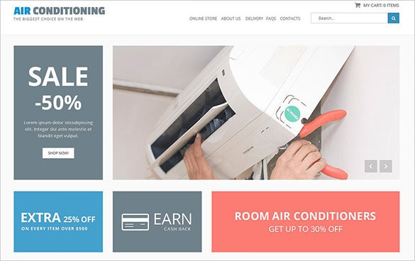 air conditioning maintenance virtuemart theme