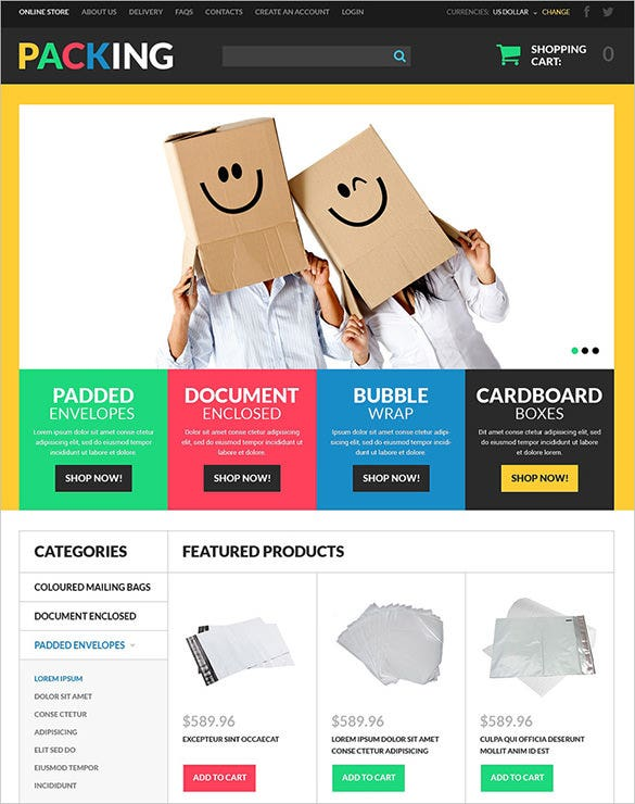 packing maintenance virtuemart template
