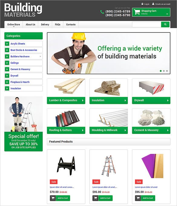 home repair maintenance virtuemart theme