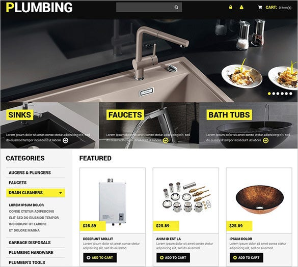 plumbing maintenance virtuemart theme
