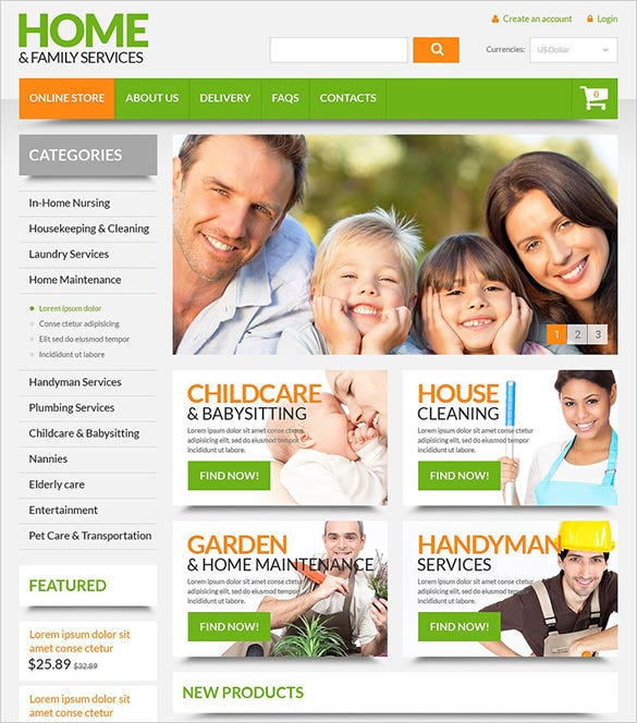 home maintenance virtuemart template