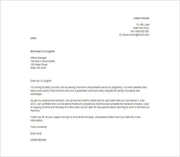Teacher Resignation Letter Templates to Download
