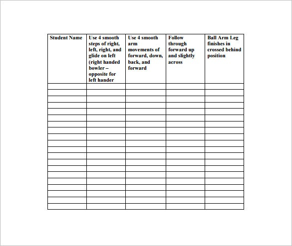 Physical Education Lesson Plan Template   Free Sample Example