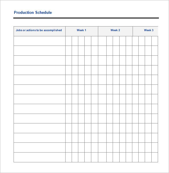 documentary production schedule template - 29 production scheduling templates pdf doc excel