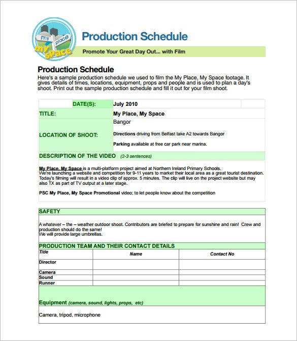 24 Production Scheduling Templates Pdf Doc Excel Free