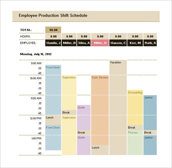Production Scheduling Template   Free Word Excel Pdf Documents