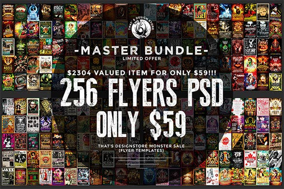 Massive-256-Flyers-Bundle-Deal---Save-98%-On-This-Big-Bundle