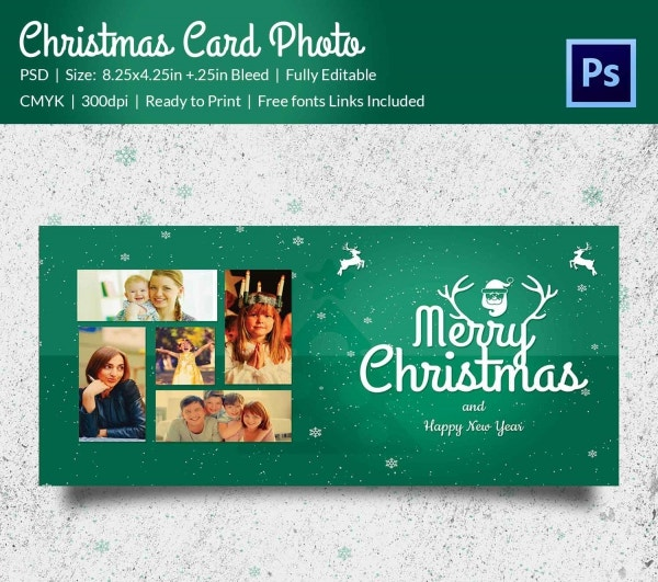 Christmas Photo Frame Mockup PSD Design Download