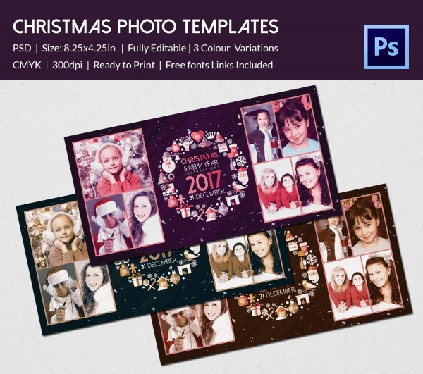 psd design family christmas photo album download