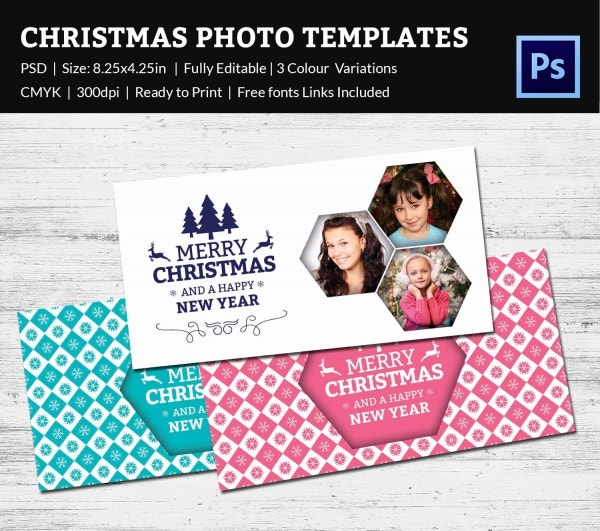 Christmas Holiday Photo Postcard Template PSD Download