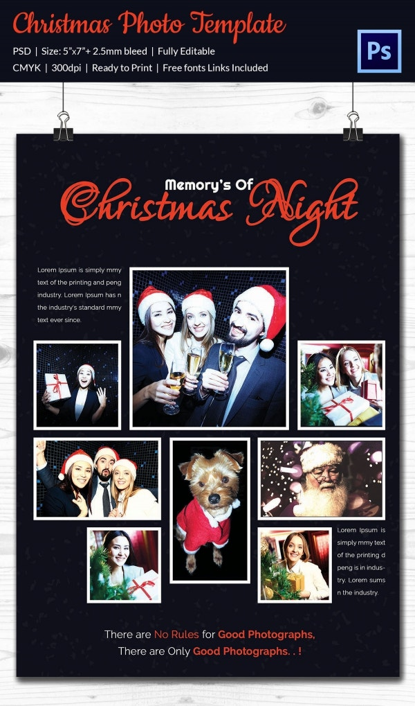 christmas photo card selection premium template