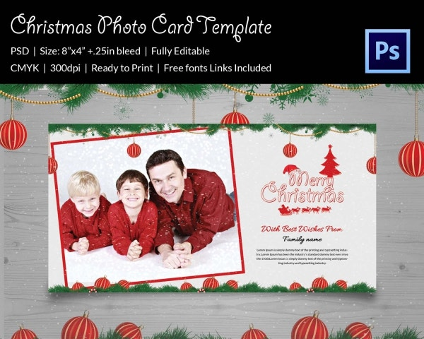christmas playing with the kids photo template