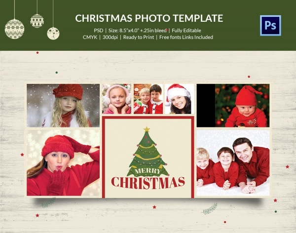 photo card with christmas tree