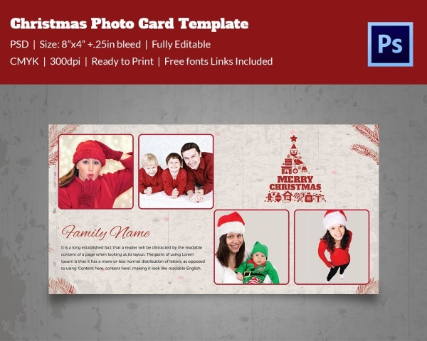 merry christmas photo session template