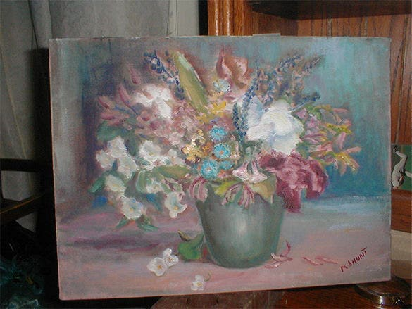 awesome flowers oil painting download