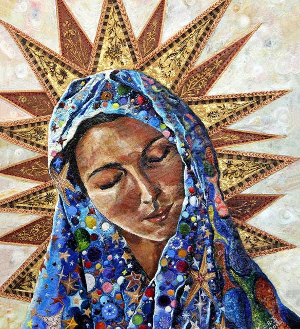 the dispossessed madonna encaustic painting