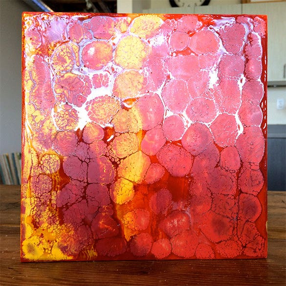 fiery encaustic painting for you