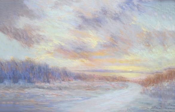 amazing landscape pastel painting