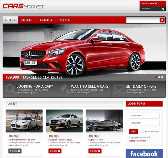 cars market virtuemart theme