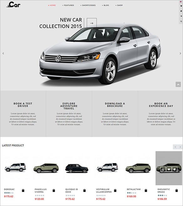 beautiful cars virtuemart theme