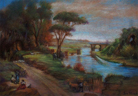 antique pastel painting download